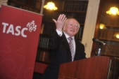 President Michael D Higgins launches Towards a Flourishing Society pamphlet